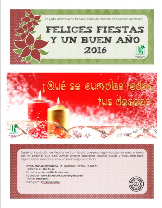 Chritsmas 2015 Asociacion de Vecinos San Nicasio
