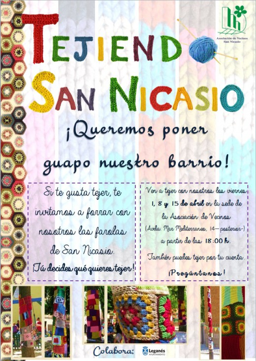 TEJIENDO SAN NICASIO Y PONLE GUAPO ASOCIACION DE VECINOS DE SAN NICASIO
