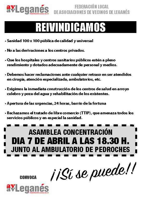 octavilla federacion SANIDAD ASOCIACIÓN DE VECINOS DE SAN NICASIO FEDERACIÓN LOCAL DE ASOCIACIONES DE VECINOS