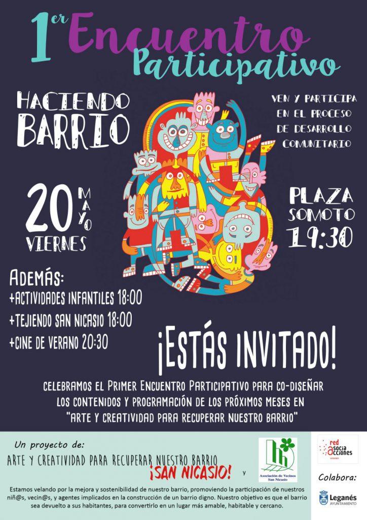 ENCUENTRO PARTICIPATIVO _ HACIENDO BARRIO (2) ASOCIACIÓN VECINOS SAN NICASIO RED DE ASOCIACCIONES
