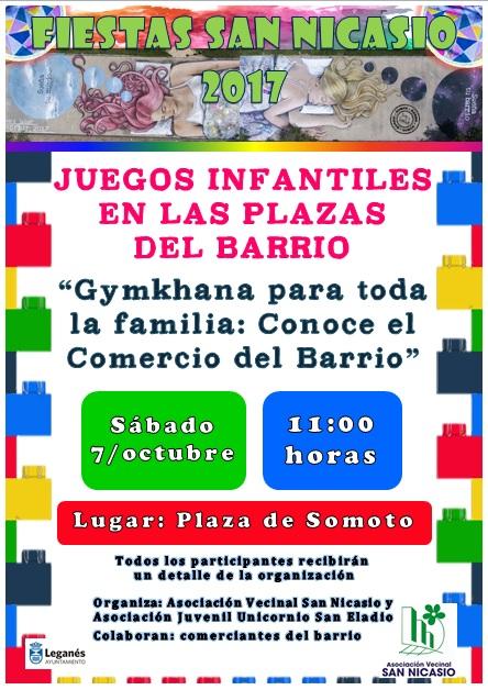 Gynkana para toda la familia ASOCIACIÓN VECINAL SAN NICASIO FIESTAS SAN NICASIO 2017