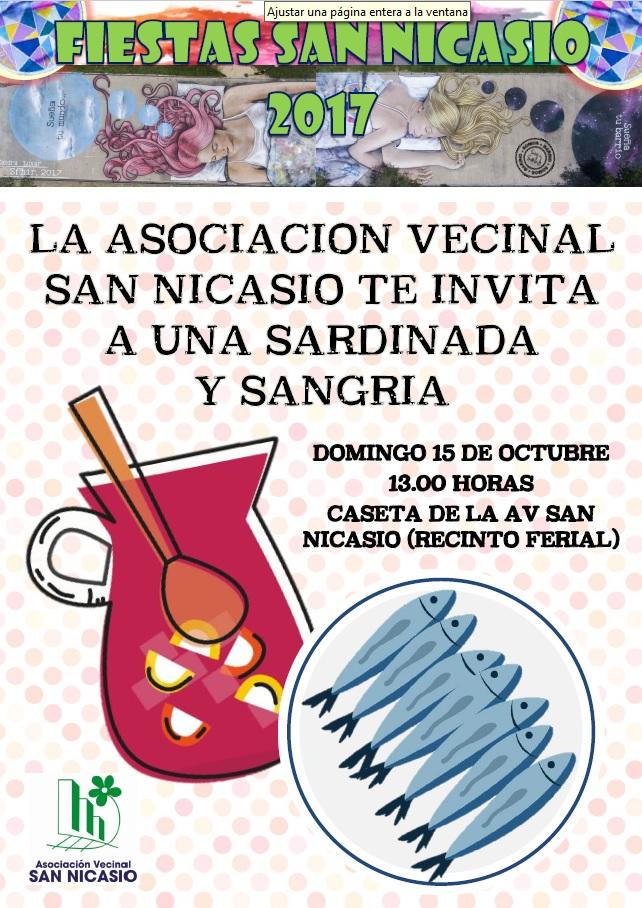 Sardinada y sangría FIESTAS SAN NICASIO 2017 ASOCIACIÓN VECINAL SAN NICASIO