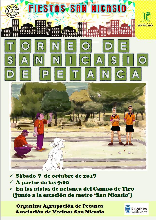 campeonato de petanca de las fiestas san nicasio 2017