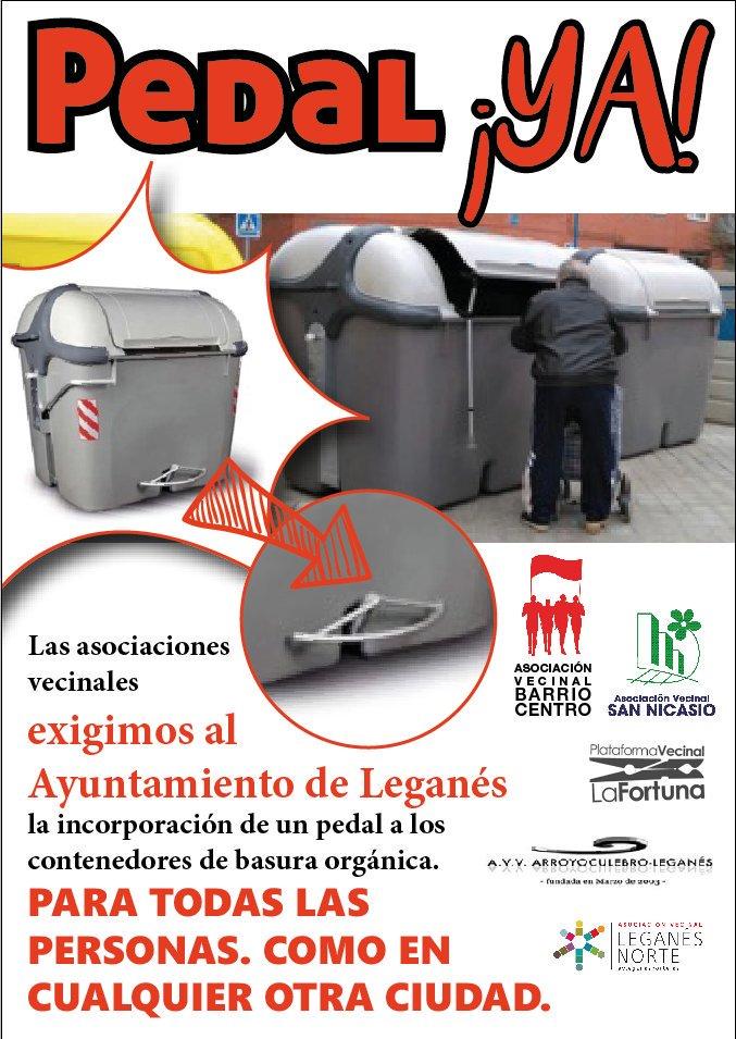 PEDAL YA ASOCIACION VECINAL LEGANÉS NORTE, ARROYO CULEBRO, BARRIO CENTRO, LA FORTUNA Y SAN NICASIO