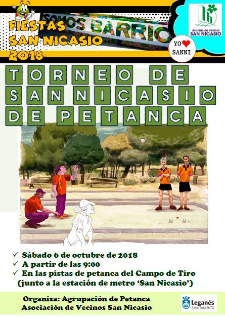 TORNEO DE PETANCA FIESTAS SAN NICASIO 2018 ASOCIACIÓN VECINAL SAN NICASIO