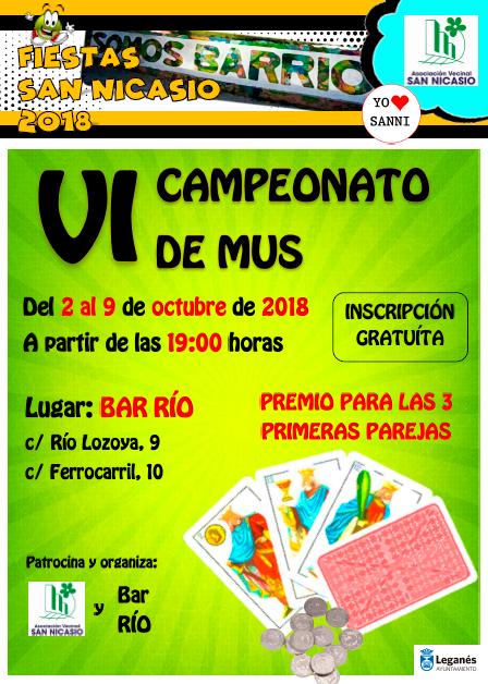 VI Campeonato MUS 2018 Fiestas San Nicasio Asociación Vecinal San Nicasio