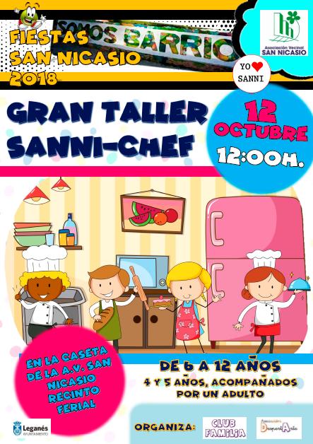GRAN TALLER SANNI-CHEF Fiestas San Nicasio 2018 Asociación Vecinal San Nicasio