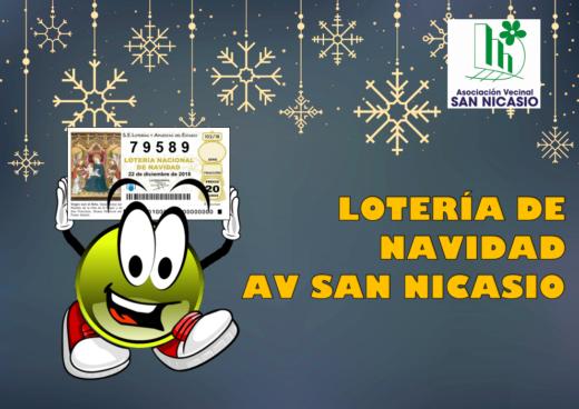 LOTERÍA DE NAVIDAD ASOCIACIÓN VECINAL SAN NICASIO 2018