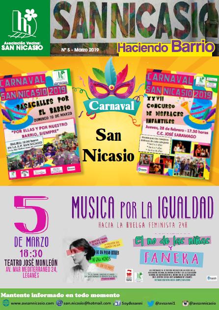 Boletín Haciendo Barrio SN N5 Asociación Vecinal San Nicasio