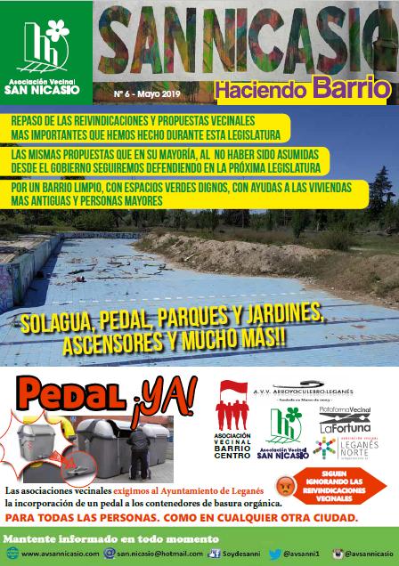 Boletín Haciendo Barrio SN N6 Asociación Vecinal San Nicasio